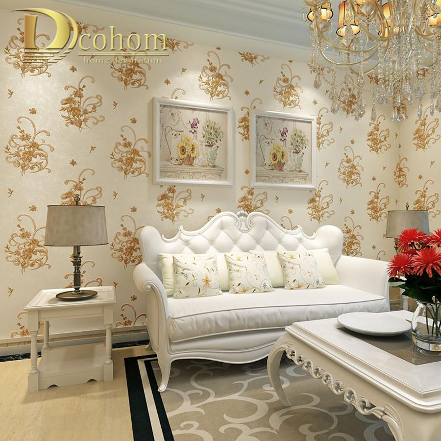 Buy Simple Cozy Pastoral Flower 3D Wallpaper For Walls Decor ...