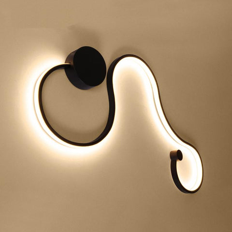 $108.53- New Postmodern Simple Creative Wall Light Led Bedroom Bedside Decoration Nordic Designer Living Room Corridor Hotel Wall Lamps