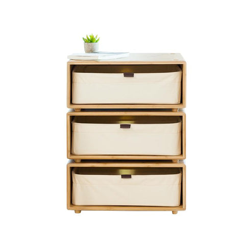 Bamboo Night Table Bedroom Nightstand Storage Drawer Bedside Cabinet Living Room Home Furniture
