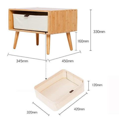 $313.10- Night Table DIY Combine Side Table Storage Night Table Cabinet Living Room TV Stand Home Furniture