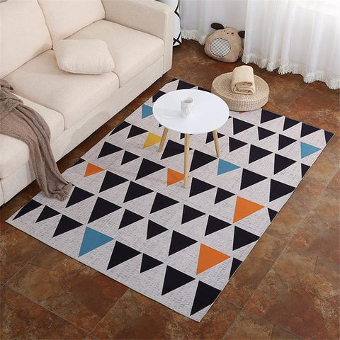 $15.18- Home Textile Nordic Rug Geometric Printing Mat Doormat Living Room Carpet Kids Play Rug Large Area Rugs Tea Table Carpet