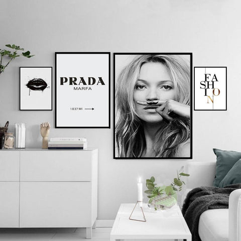 Nordic Fashion Canvas Painting Minimalist Black White A4 Posters Prints Salon Wall Art Pictures For Living Room Home Decor
