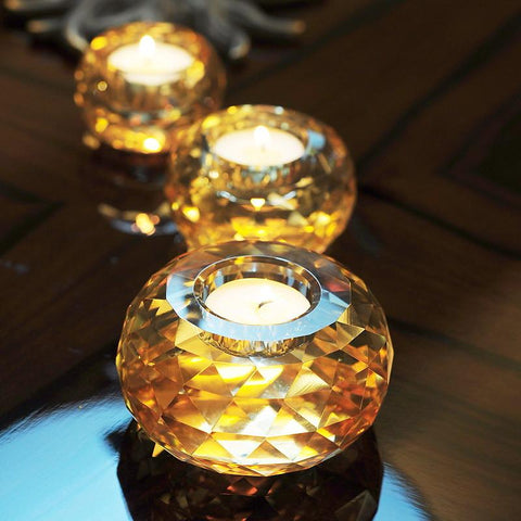 $26.02- 2 Color European Crystal Glass Candle Holder Candlestick Bar Cafe Wedding Home Decoration Candelabra Romantic Tealight Holder
