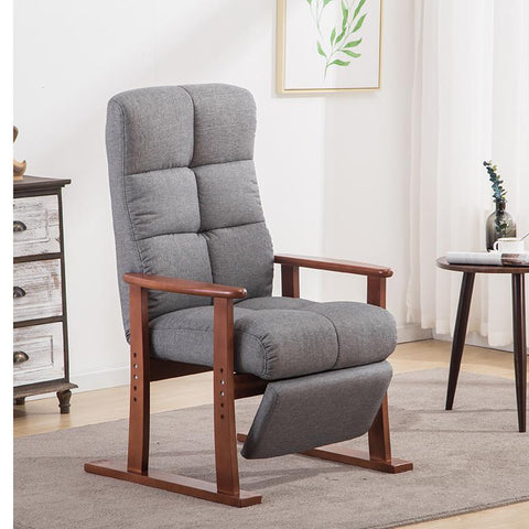 Modern Living Room Chair Ottoman Fabric Upholstery Furniture Bedroom Lounge Reclining Armchair W/ Footstool Accent Chair