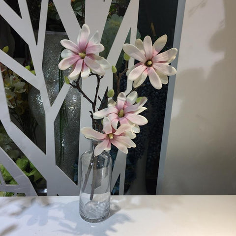 Shop for artificial plants at icon2 designer home decor elements 1378 jarown 2 heads mangnolia artificial flowers real touch silk flowers simulation plants fake flowers mightylinksfo