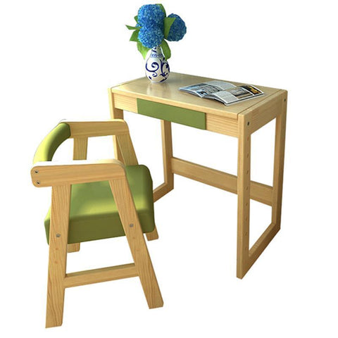 Children'S Learning Wooden Pupils Desks Writing Chair Sets Home MultiFunctional Girls Desk