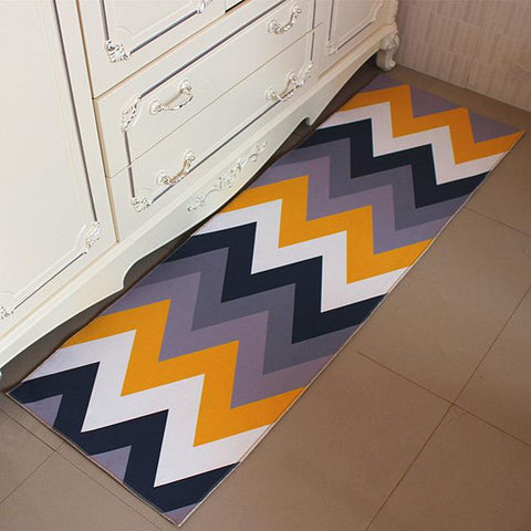 $64.77- Panlonghome Nordic Modern Minimalist Kitchen Rug Geometric Mat Nonslip Oilresistant Strip Mat Home Bedroom Bedside Carpet