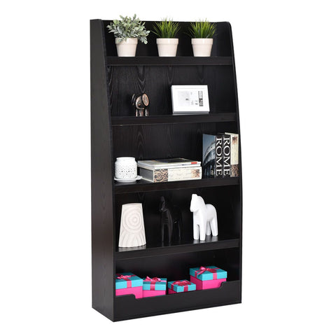 $118.98- Giantex 5 Layers Bookcases Modern Living Room Bookshelf Storage Display Shelves Wooden Home Office Furniture Hw55011