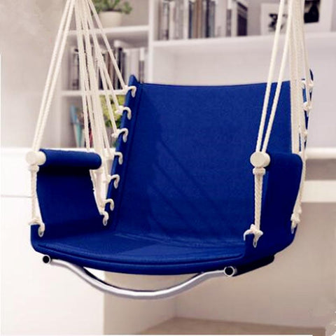 Garden Patio Porch Hanging Cotton Rope Swing Chair Seat Hammock Swinging Wood Outdoor Indoor Swing Seat Chair Hot