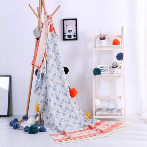 $80.98- Point Tassel Blanket Knitted Woolen Soft Blanket Office Napkin Sofa Cotton Yarn Knitted Throw 1.2X1.8M Blanket Home Decor