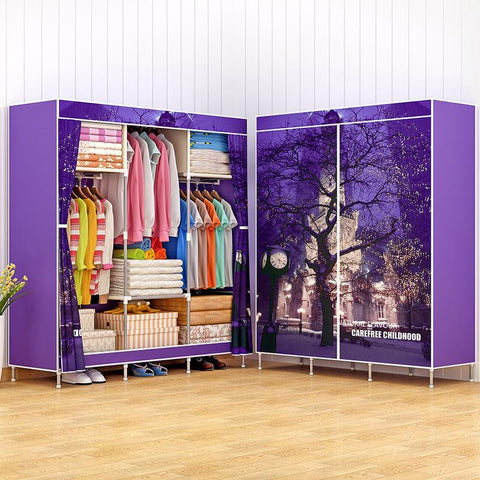 $101.18- Modern Minimalist Fashion Fresh Home Bedroom Furniture Nonwovens Portable Closet Storage Cabinet Multifunctional Wardrobe Closet