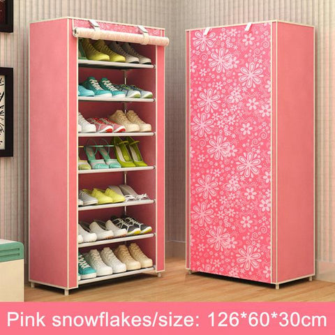 $51.66- Shoe cabinet Multilayer Nonwoven fabrics large shoe rack organizer removable shoe storage for home minimalist furniture