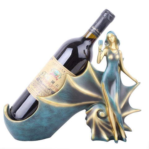 $65.77- Wine Racks Handmade Beauty Elegant Girl Home Kitchen Bar Accessories Wine Holder Metal Craft Girl Friend Valentine'S Day Gifts