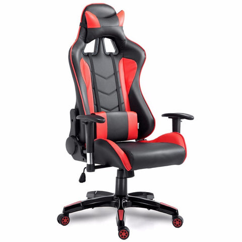 $220.98- Goplus High Back Executive Racing Reclining Gaming Chair Swivel Pu Leather Office Computer Chair Ergonomic Game Chairs Hw53863