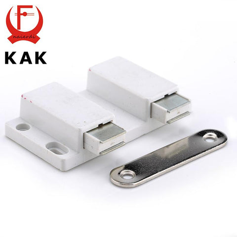 $3.38- Kak Double Cabinet Catch Kitchen Door Stopper Soft Quiet Close Magnetic Push To Open Touch Damper Buffers For Furniture Hardwar