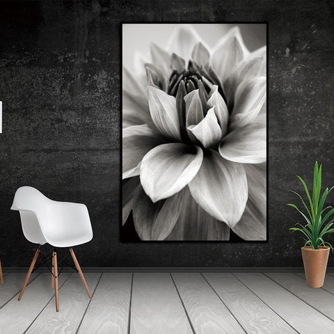 $5.26- Nordic Abstract Flower In Blossom Wall Pictures Living Room Art Decoration Pictures Scandinavian Canvas Painting Prints No Frame