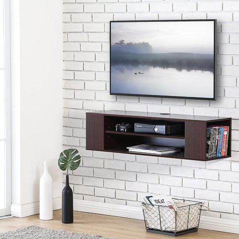 $142.12- Floating TV stand Wall Mount TV cabinet Media Console Entertainment Center TV Stand DS210001WB
