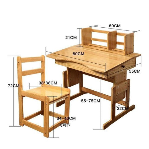 Wooden Children'S Study Student Learning Tables Chairs Set Combination Desk