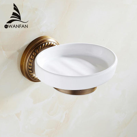 Soap Dishes Antique Brass Soap Holder Bath Shelf Soap Dispensers Storage Wall Bathroom Accessories Black Soap Stand Hj1305