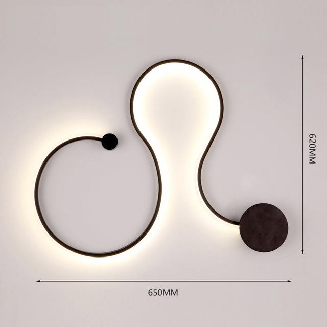 $141.45- Modern Led Wall Light Scandinavian Sconces Led Bedroom Bedside Decoration Nordic Designer Living Room Corridor Hotel Wall Lamps
