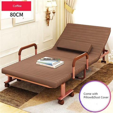 $328.35- 80Cm Wide Folding Bed W/ Mattress Bedroom Furniture Rollaway Guest Bed For Adults Kids Portable Metal Folding Bed Single