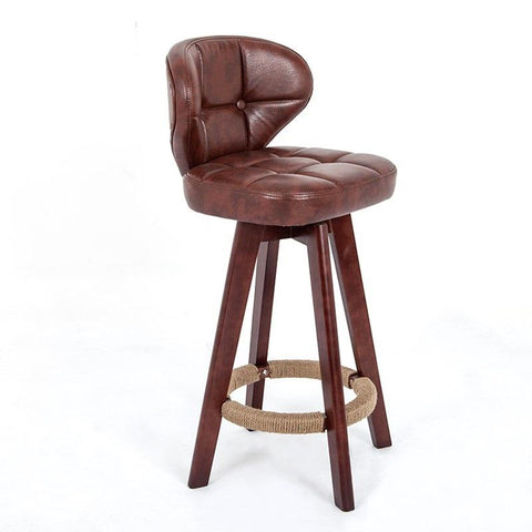 $295.45- Wb#8032 Life North European Chairs Wood Chair Backrest Rotary Bar Stool