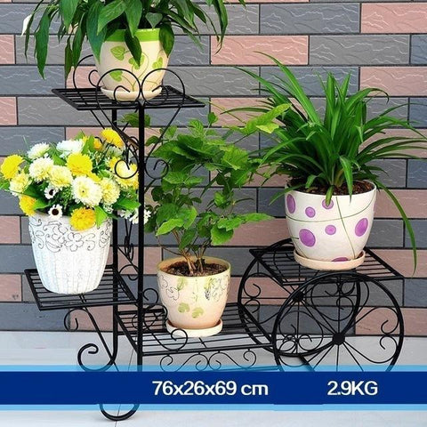 $86.44- Plants Living Room Metal Iron Multifunctional European Style Modern Shelves Green Flower Shelf Flowerpot Rack Decoration