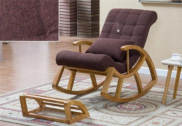 $621.56- Wood Rocking Chair Glider Rocker Ottoman Set Living Room Furniture Cushioned Luxury Comfortable Nursery Rocking Chair Seat