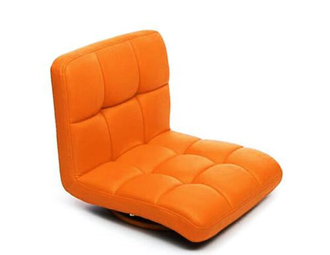 $117.30- Orange Color Chair Living Room Floor Seating Leather Furniture 360 Degree Rotating Japanese Style Tatami Zaisu Legless Chair