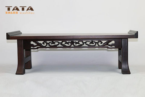 $168.30- Asian Wood Furniture Korean Dining Table Folding Leg Rectangle Living Room Coffee Table For Tea Traditional Floor Table Foldable