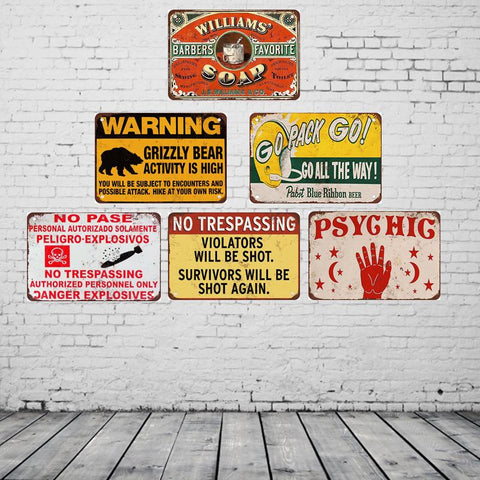 $15.38- Go Pack Go Vintage Metal Sign Posters Home Decoration Accessories Shabby Chic Art Prints 20*30 Cm