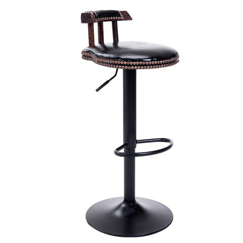 Industrial Vintage Rustic Retro Swivel Counter Bar Stool Cafe Chair W/ Backrest Restaurant Bar Cafe Home Kitchen Decoration