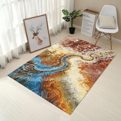 6Mm 3D Continental Simple Modern Rug Living Room Sofa Coffee Table Cushion Bedroom Bedside Rug Household Washable