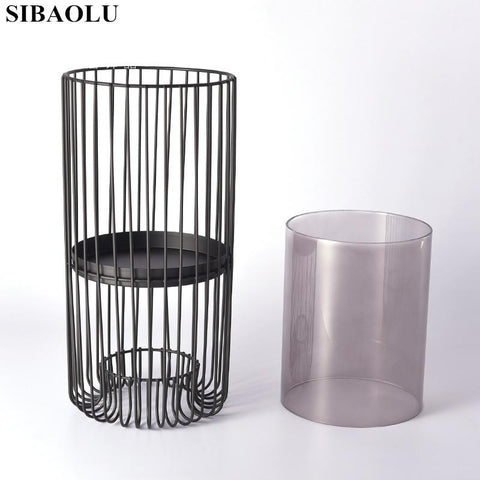 $72.83- Fashion Modern Creative Metal Iron Candle Holders Candlestick Stand Dinner Table Part Nordic Style Candlestick Home Decor Vase
