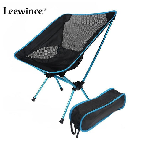 Leewince Ultralight Foldable Camp Chairbackpacking Camping Fishing Motorcycling Outdoor Events Chairs W/ Adjustable Height