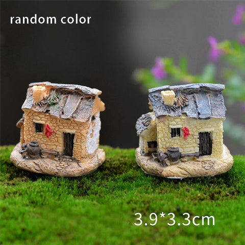 $1.50- 1Pcs Vintage Artificial Pool Tower Miniature House Fairy Garden Home Decoration Mini Craft Micro Landscaping Decor