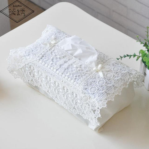 $5.93- Longshow Creative Home Hotel Table Decorative Embroidered Lace Tissue Box Case Cover