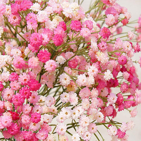 $6.12- 1 Bundle 135 Heads Artificial Plastic Flowers Sky Stars Bridal Bouquet For Home Wedding Decoration Fake Plant Silk Mini Flower