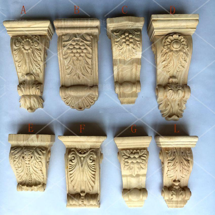 $93.62- 2Pcs/Lot Premintehdw Furniture Architectural Wood Corbel Unpainted Corbels