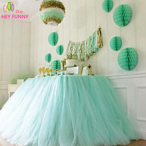 25Yard X 6Inch Tulle Fabric Roll Spool For Wedding Decoration Party Table Centerpiece Skirt Diy Accessories Supplies