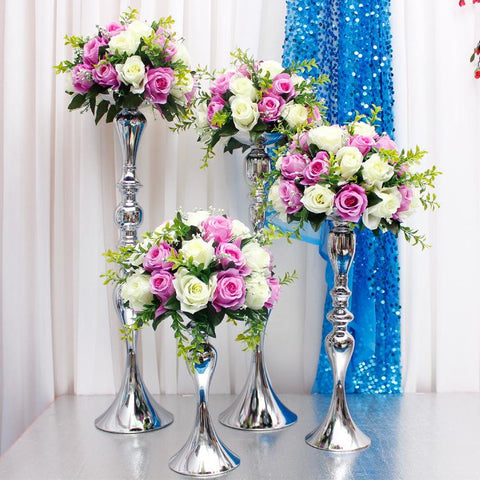 $404.25- Flower Ball Holder Display Wedding Table Centerpieces Decoration Candle Holders Stand Flowers Vase Candlestick Candelabra 20Pcs