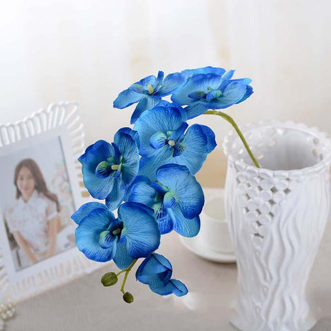 $3.08- Orchid Artificial Flowers Bouquet Kid Adult Birthday Christmas New Year Wedding Table Centerpieces Home Hotel Banquet Decoration