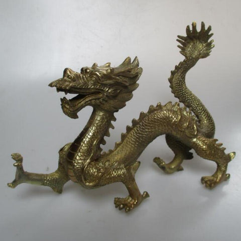 $127.59- Wedding Decorations/Christmas Gift Long 11 Chinese Brass Carved Dragon Statue/Animal Sculpture Christmas Decorations For Home
