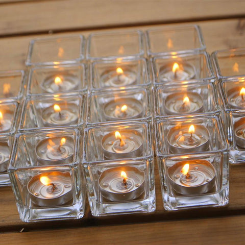 $15.94- Retro Candlestick Glass Candle Holders Furnishing Valentine'S Day Candlelight Glass Holders Dinner Decorations Romantic Wedding