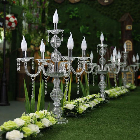 $840.00- 55Cm To 150Cm Tall Upscal Table Centerpiece Acrylic Crystal Wedding Candelabras Candle Holder Wedding Aisle Road Leads Props