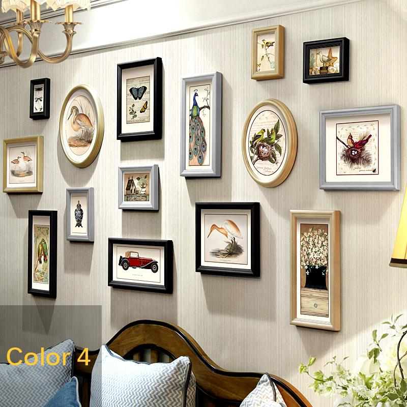 Frames For Pictures High Quality Porta Retrato Moldura Wood Photo Frame Vintage Photo Frame Wall Moldura Madeira 15 Pieces/Set