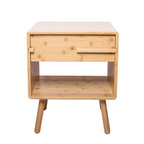 $333.70- Bamboo Night Table Bedroom Nightstand Storage Drawer Bedside Cabinet Living Room Home Furniture