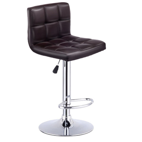 $77.38- Giantex Modern Bar Stool Swivel Adjustable Pu Leather Barstools Bistro Pub Chair Rotating Home Bar Furniture Hw53843Bn