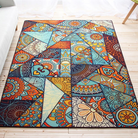 140X200Cm Large Carpet Living Room Bohemia Style Rug Nonslip Comfortable Geometric Pattern Bedroom Rug Home Decorator Floor Rug