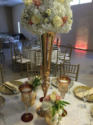 Toprated 88Cm /34.6 Gold Wedding Flower Vases Table Centerpiece Wedding Supply 10 Pcs/Lot
